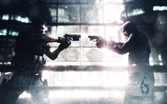 Chris vs Leon wall RE 6 by VickyxRedfield