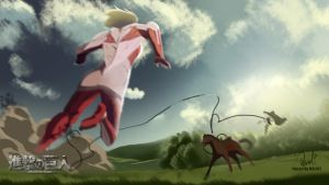 Jean Kirschtein Vs Female titan by MZLART