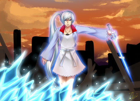 Ice Queen Weiss by Shizumii-Kaii