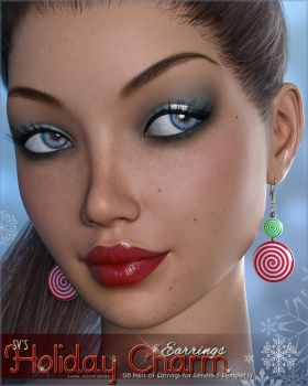 Holiday Charm Earrings G3F by cosmosue