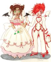 Rose Bride n Strawberry Prince by MistressLegato