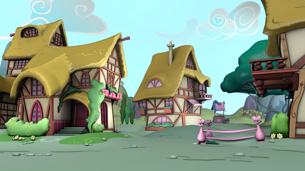 Ponyville Environments - Scene Demo by discopears