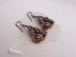 Earrings with lapis lazuli by UrsulaOT