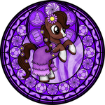 Commission: Stained Glass: Gala at the Gala by Akili-Amethyst