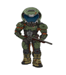 Doom Slayer Chibi by equilibrik