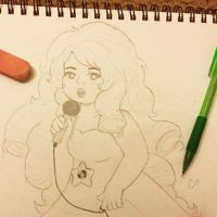 ...I like playing along - Rose Quartz WIP Sketch by Girl-In-Disorder