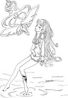 .. Water Space .. - lineart by kya-san