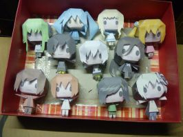 . : Kagerou project Papercraft Doll: . by SazenNEA