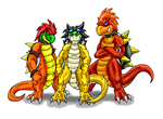 B-Day-DB, Sirner, And Blaze by Scatha-the-Worm