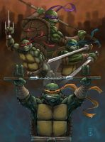 TEENAGE MUTANT NINJA TURTLES by Big-Foot-Studios