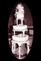 wedding cake black and white by peaceocake