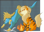 Arcanine and Manectric by Balu-Pixels