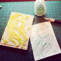 Original rubber stamp by XluciferXX