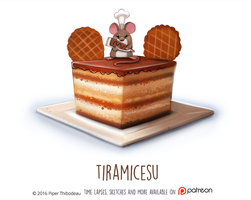 Daily Paint 1469. Tiramicesu by Cryptid-Creations