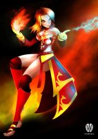 DotA 2 Fanart - Lina Inverse the Slayer by wittywilly