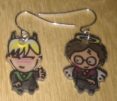 Kawaii Draco an Harry earrings by Lovelyruthie