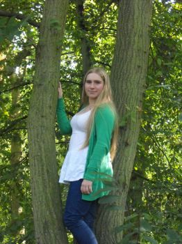Me in a tree by Maria-Marsbar