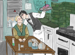 Johnlock - birthday by 221bee