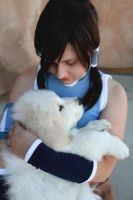 Korra and the Polarbeardog by riku-gurl