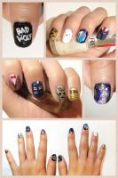Doctor Who Nails by rltan888