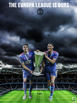 Man Utd Europa League Champions Lockscreen version by pranayshah7