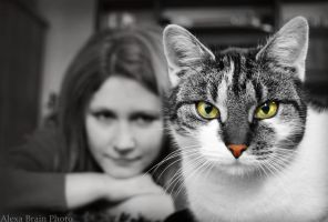 Cat potrait by AlexaBrain