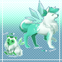 Mint Fairy Dog Adopts PRICE LOWERED by Minccinojuic