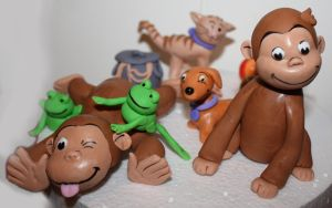 Curious George and friends by marcottm