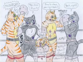 Boxing Puss in Boots vs Kitty Softpaws by Jose-Ramiro