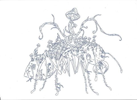 Kaiju: The Zombie Ant [Mind Controlling Fungus] by Cyprus-1