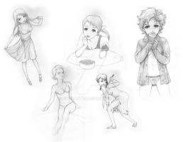 5 sketches by FireCaster