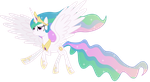Princess Celestia in Flight by 90Sigma