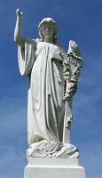 Mount Olivet Cemetery Woman 150 by Falln-Stock