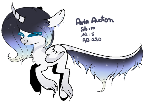 |MLP CLOSED SPECIES|Avia AUCTION |Closed| by Sapphire-M00nLight