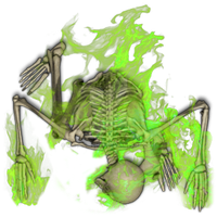 Skeleton Green Flame 1[Necromancy,fire,flame,skele by Madcowchef