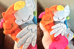 Close Up of Rainbow Dash and Scootaloo by Pinkamoone