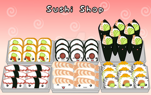 Sushi Shop by Nashiil