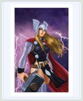 FOR SALE : 13x19 Thor Girl by FrankRapoza