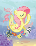 Fluttershy Merpony by inki-drop