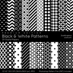 Black And White Patterns - Premium Edition by MysticEmma