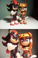 Shadow and Tikal Sculptures by Tikaru17