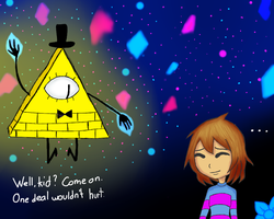 Undertale Gravity Falls crossover by CountessGrace
