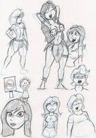 IT'S HULA-GIRL SKETCHING TIME by MDFive