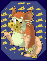 Shiny Rodents with cheese by G-manluver