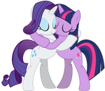 MLP Shipping - Rarity and Twilight Sparkle by RamseyBrony17