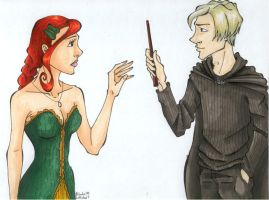 Draco Forks over his Wand by TinyQ