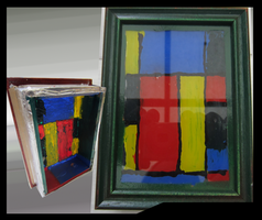 small Painted picture frame1  by Madcoast