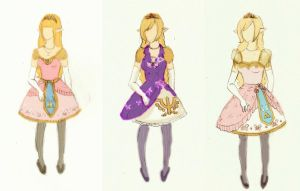 Lolita Zelda Ideas Progression by pinkbutterflyofdeath