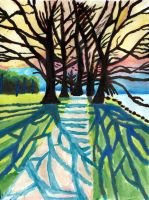 Bare Trees (Watercolour) by David-c2011