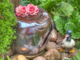 Little fountain HDR by Ryderrr